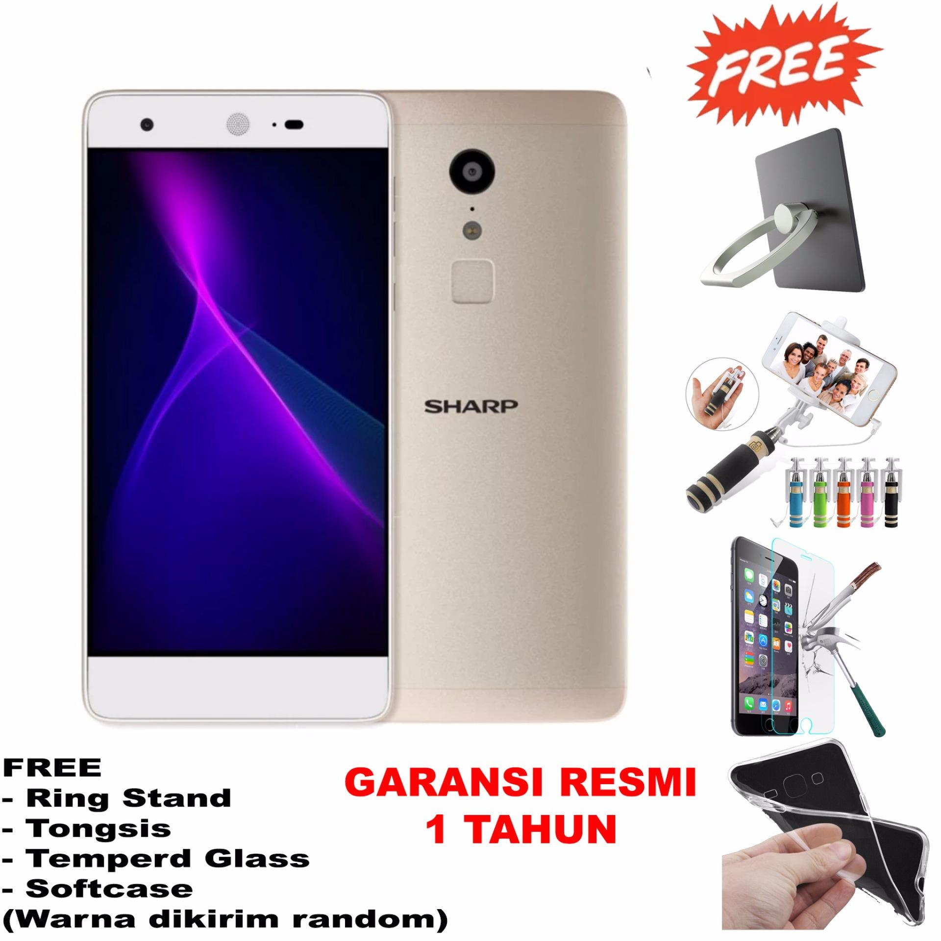 Jual Sharp Z2 Ram 4Gb Deca Core Kamera 16Mp 8Mp Free 4 Item Accessories Gold