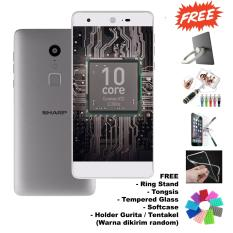Sharp Z2 - RAM 4GB - Deca Core - Kamera 16MP+8MP - (Free 5 Item Accessories) - Silver