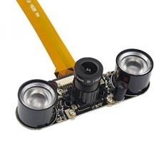 Shchv Raspberry Pi Zero W Kamera Modus Malam Webcam + 2 Infrared Lampu LED IR untuk Raspberry Pi Zero-Intl