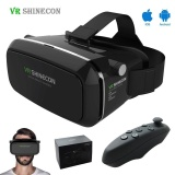 Harga Termurah Shinecon Vr Virtual Reality 3D Glasses Google Cardboard 2 Vr Headset 3D Vr Box Kacamata Untuk 4 7 6 Inch Smart Phone Gamepad Intl