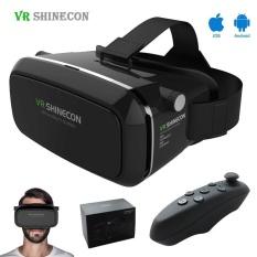 Shinecon VR Virtual Reality 3D Glasses Google Cardboard 2.0 VR Headset 3D  VR BOX Kacamata untuk 52961255f8