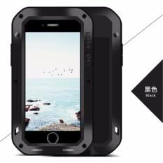 Shock Bukti Kotoran Tahan Air Logam Armor Aluminium Silicon Cover Phone Case Cover untuk Apple IPhone 8 Plus 5.5 Inch dengan Kaca Tempered-Intl