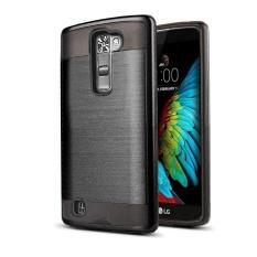 Anti Getar Pelangsing Sikat Logam Tekstur Pelindung Penutup Kasus Armor Hibrida untuk LG K10/PREMIER LTE-Intl