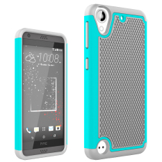 Shockproof Dual Layer Silicone + Plastic Hybrid Armor Protective Phone Case Cover for HTC Desire 530 / HTC 630 - intl