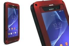 Anti Guncangan Tahan Debu Air Tahan Aluminium Paduan Logam Kaca Melunakkan Sarung Case untuk Sony Xperia Z2-Internasional