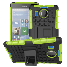Shockproof Heavy Duty Combo Hybrid Rugged Dual Layer Grip Case Cover with Kickstand for Microsoft Lumia 950XL / 950 XL (Green) - Intl