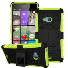 Shockproof Heavy Duty Combo Hybrid Dual Layer dengan Kickstand untuk Microsoft Nokia Lumia 540 (Hijau) -Intl