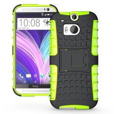 Shockproof Heavy Duty Combo Hybrid Rugged Dual Layer Grip Cover with Kickstand For HTC One (M8) - intl
