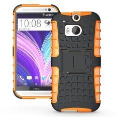 Aman Kejutan Tugas Berat Combo Hibrida Lapis Ganda With Pegangan Kasar For Menutupi Standarnya HTC One (M8)