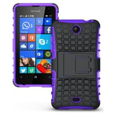 Shockproof Heavy Duty Combo Hybrid Rugged Dual Layer Grip Cover with Kickstand For Microsoft Lumia 430 - Intl