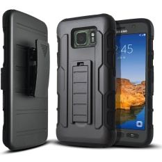 Shockproof Heavy Duty Protection Hybrid Full Body Rugged Case Rubber Dual Layer Holster Cover for Samsung Galaxy S7 Active with Kickstand