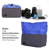 Daftar Harga Shockproof Insert Partisi Padded Camera Bag Protection Case Untuk Dslr Kamera Abu Abu Biru Intl Oem