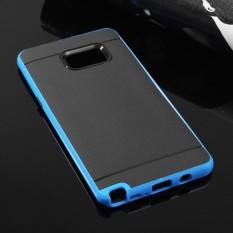 Shockproof Silicone Bumper Phone Case Cover Protector untuk Samsung Galaxy Note 7 Biru-Intl