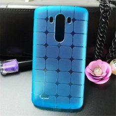 Shockproof Casing TPU Rubik Casing Telepon Berpola untuk LG G4 (Biru)-Intl