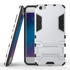 Shockproof dengan Fitur Kickstand Case untuk Vivo Y66 (5.5 Inch) 2 In 1 Hybrid Dual Layer Pelindung Armor Cover-Intl