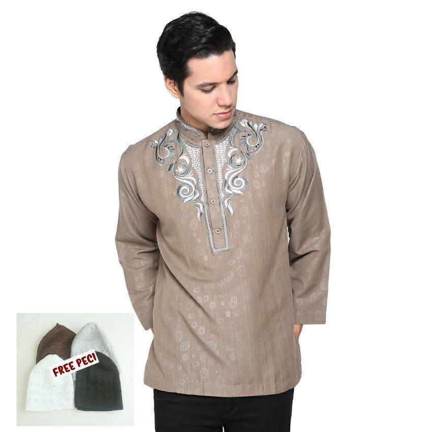 Beli Barang Shohib Baju Koko Lengan Panjang Katun Hafiz Online