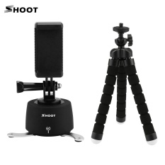 Cuci Gudang Shoot 360� 60 Minutes Manual Panoramic Time Lapse Photography Pan Head Max Load 750G With Mini Tripod Phone Clip Mounting Adapter For Gopro Hero 5 4 3 Sports Cameras For Iphone 7 Plus 7 6 Plus 6S Smartphone Intl