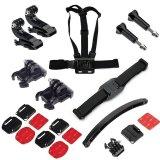 Harga Menembak Outdoor Biasa Sport Aksesori Bundle Kit Dengan Cheststrap Mount Dengan Helm Aksesori Untuk Hero Sj Cam Yi Sport Kamera Online Tiongkok