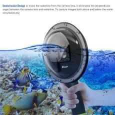 Menembak XTGP258 6 Inci Kamera Aksi Menyelam Fisheye Dome Port Underwater Menyelam Lensa Kamera dengan Tahan