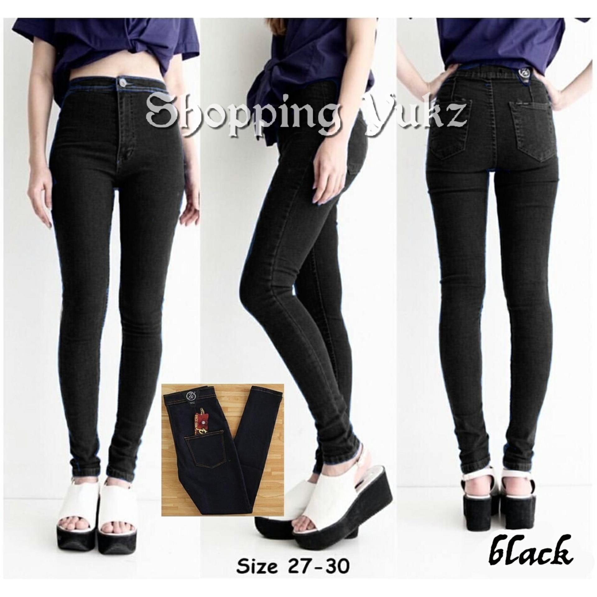 Review Tentang Shopping Yukz Celana Jeans Wanita Skinny Highwaist Hunny Hitam Kualitas Premium Celana Panjang Jeans Wanita Highwaist Jeans Celana Wanita Jeans Wanita Long Pants Highwaist
