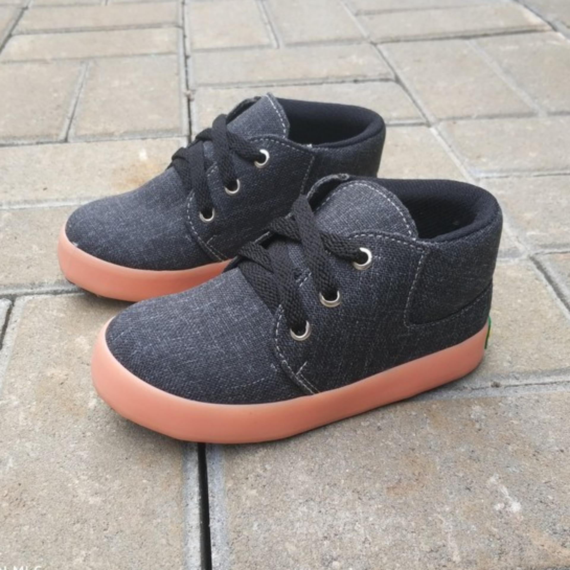 Pusat Jual Beli Shuku Sepatu Sneaker Anak Laki Cowok Semi Boot Keren Casual Trendy Kekinian Jawa Barat