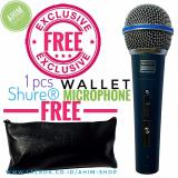 Beli Shure Beta 58A Sk Plus Switch On Off Supercardioid Dynamic Vocal Microphone Mic Kabel Free 1Pcs Wallet Shure Mikrofon Seken