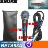Promo Shure Beta 58A Switch Mik Mic Mikrofon Microphone Kabel 58 58 A Di Dki Jakarta