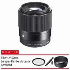 Sigma 30mm f/1.4 DC DN Contemporary Lens for Sony E - (Free Lenspen Pembersih Lensa)