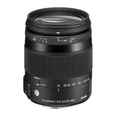 Sigma Lens 18-200mm f/3.5-6.3 DC Macro OS HSM For Canon (C) - Hitam