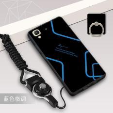 Silica Gel Soft Casing Ponsel untuk 5.0 Huawei Y6 Huawei Honor 4A dengan Tali dan Ring (Multiwarna)
