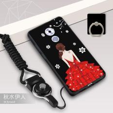 Silica Gel Soft Casing Ponsel untuk HUAWEI Mate 8 dengan Tali dan Ring (Multiwarna)