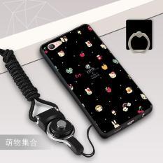 Silica Gel Soft Casing Ponsel untuk OPPO A57/OPPO A39 dengan Tali dan Ring (