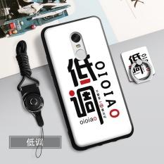 Silica Gel Soft Casing Ponsel untuk Xiaomi Redmi Catatan 4X (3 GB + 16/32 GB) dengan Tali dan Ring (Multiwarna)