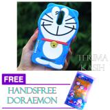 Iklan Silicon 3D Kartun Doraemon Softcase Casing For Xiaomi Redmi Note 3 Free Handsfree Karakter Doraemon