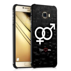Silicone 3D Colorful Painting Back Cover Case untuk Samsung Galaxy C7/C7000 (Love Jaringan)-Intl