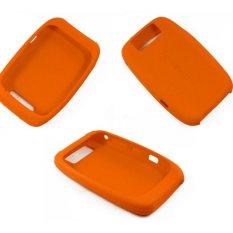 Silicone Case Cover untuk Blackberry Curve 8900 (Orange)-Intl
