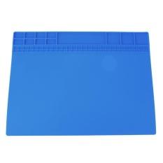 Silicone Panas Isolasi Pemeliharaan Elektronik Perbaikan Platform Meja Pad (Biru)-INTL (Biru Alcatel Pop 7 LTE)