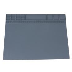 Insulasi Panas Silikon Pemeliharaan Perbaikan Elektronik Meja Platform Pad (Grey) -INTL (Abu-abu Alcatel Pop 7 LTE)