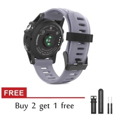 Silicone Replacement Band for Gar min Fenix 3/Fenix3 HR Fitness GPS Smartwatch Watch Strap With Tools - intl