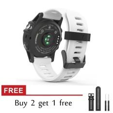Silicone Replacement Band untuk Garmin Fenix 3/Fenix3 HR Kebugaran GPS Smartwatch Watch Strap dengan Alat-Internasional
