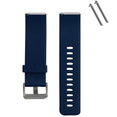 Silicone Penggantian Jam Tangan Pintar Tali Gelang dengan Klip Metal untuk Gelang Pintar Fitbit Blaze Pelacak Kebugaran Smartband Biru