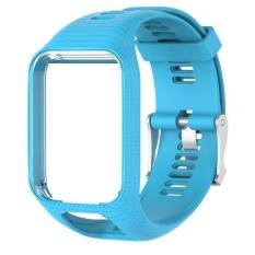 Dapatkan Segera Silicone Watchband Bingkai Pengganti Tom Tom Runner 2 Spark Spark 3 Intl