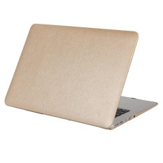 Sutra Tekstur Apple Laptop PC Pelindung Case untuk MacBook Air 13.3 Inch (Emas)-Intl