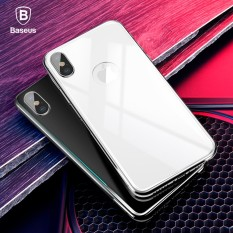 Ulasan Lengkap Tentang Silver Baseus Untuk Iphone X Kembali 4D Liputan Layar Penuh Film Screen Protector Tempered Glass Back Cover Kaca Film Untuk Iphonex 10 Intl