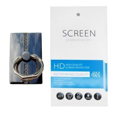 Silver Diamond Ring Stand (firmly stick on phone / phone cover case) + Gratis 1 Clear Screen Protector for Huawei Ascend Y220
