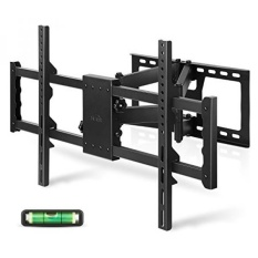 SIMBR TV Wall Mount Bracket with Full Motion Double Articulating Arm for most 30-85 Inches LED, LCD and Plasma TVs up to VESA 700x400mm and 176 LBS, with Tilt, Swivel, and Level Adjustment - intl