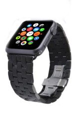 Simida Technology Smart Life Black HOCO Stainless Steel Buckle Watch Bands Strap for Apple watch 38mm - intl