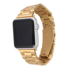 Simida Technology Smart Life HOCO Plated Stainless Steel Strap Classic Watch Bands for Apple 42mm - intl