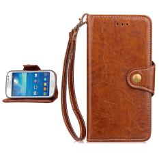 Gaya Bisnis Sederhana Dompet Premium [Soft TPU + PU Leather] untuk Samsung Galaxy S3 III I9300 (4.8