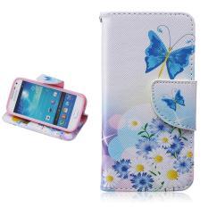 Gaya Sederhana Gaya Dompet Premium [Soft TPU + PU Leather] Flip Stand Shell Protection Cover untuk Samsung Galaxy S4 Mini I9190/i9192 Case (Putih) -Intl
